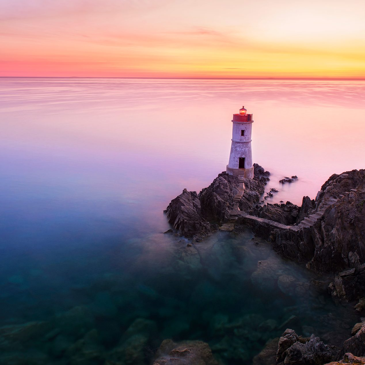 Phare Lighthouse, Capo Ferro, italie italy photographie photography trip travel voyage nikon d810 europe nature paysage landscape summer été long exposure, pose longue, lee filters