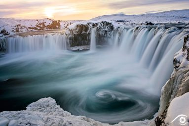 godafoss Goðafoss islande iceland photographie photography trip travel voyage nikon d810 europe nature paysage landscape hiver winter cascade waterfall long exposure, pose longue voyages photographie ice snow
