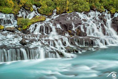 hraunfossar islande iceland photographie photography trip travel voyage nikon d800 europe nature paysage landscape summer été pose longue, long exposure, cascade waterfall