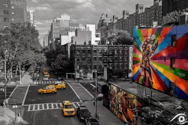 états unis, usa photographie photography trip travel voyage nikon d800 amérique america ville city paysage landscape summer été, new york, tag mur wall, noir et blanc, black and white, high line